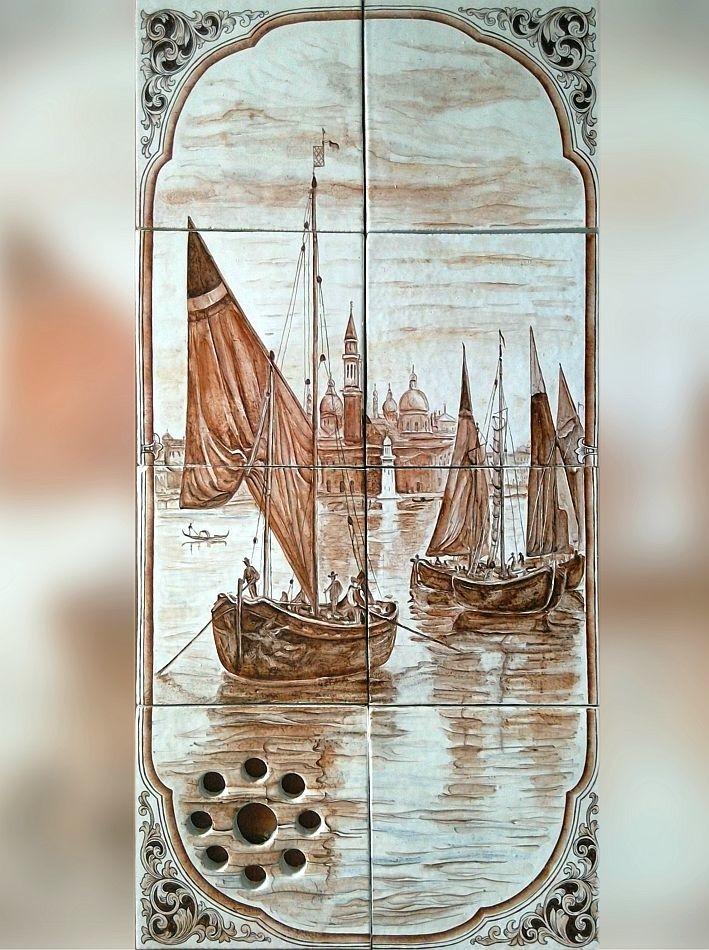 Cheminée en faïence Venice
