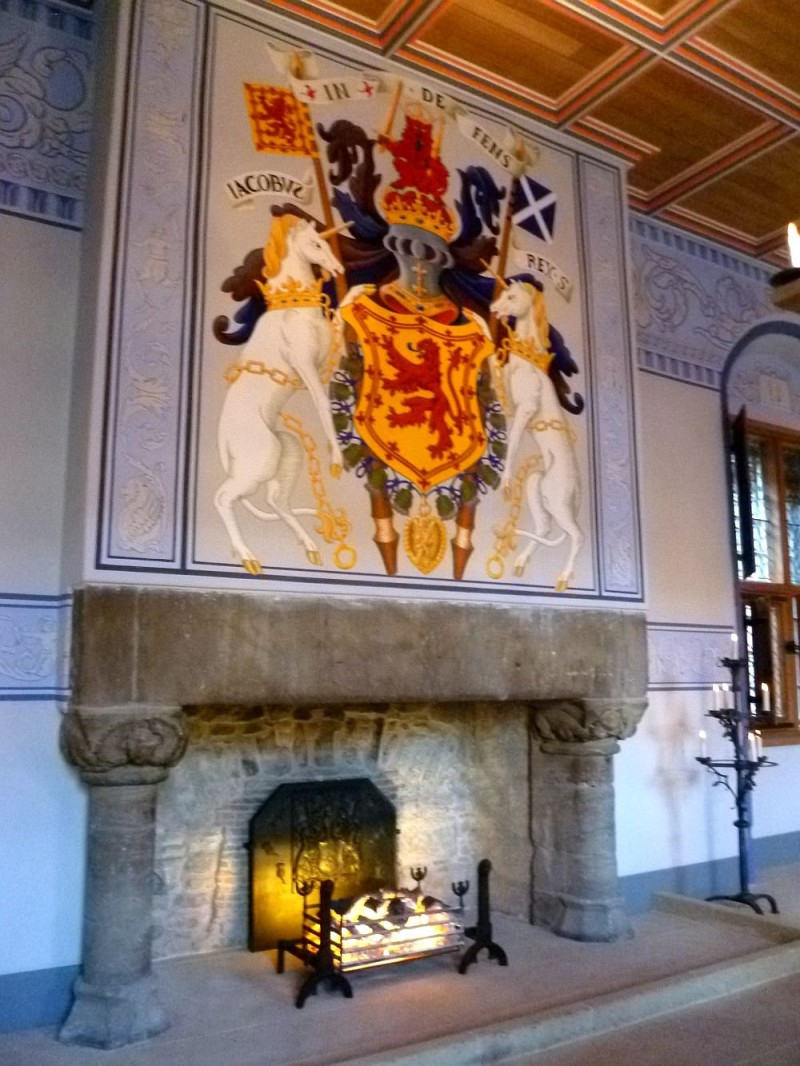 Reconstruction of a medieval fireplace in Sterling Castle