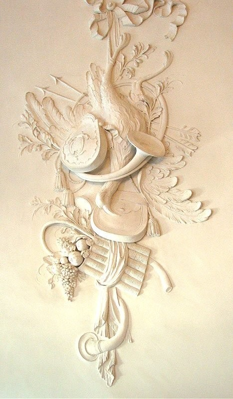 Bas-relief in the White Dining Room of the Catherine Palace. St. Petersburg