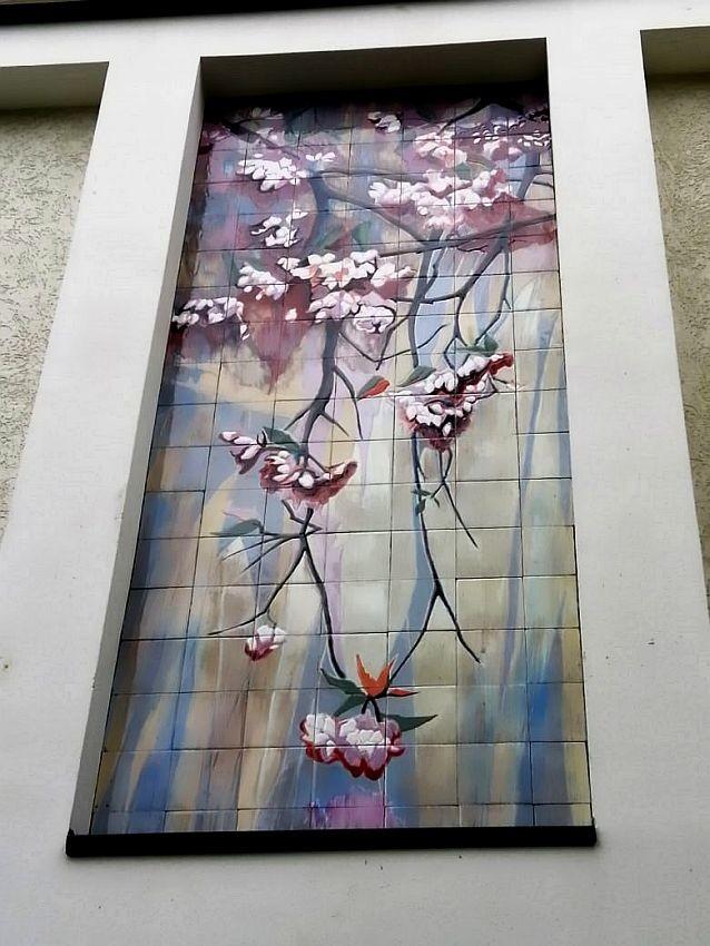 Facade ceramic mural Aquarelle