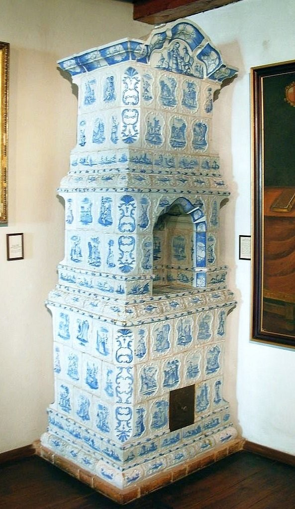 A stove in Jan Dlugosz's house