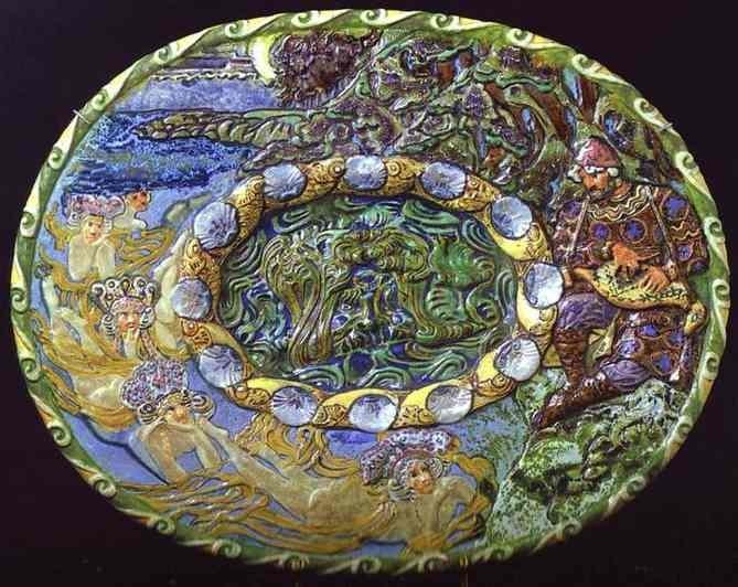 Vrubel's majolica plate