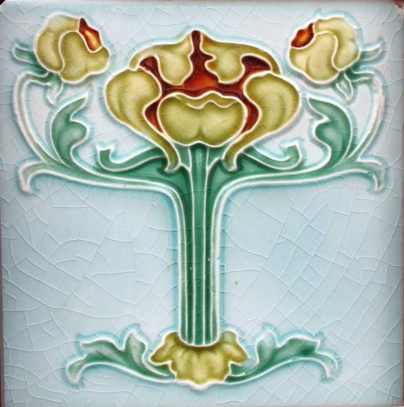 Edwardian Art Nouveau tiles