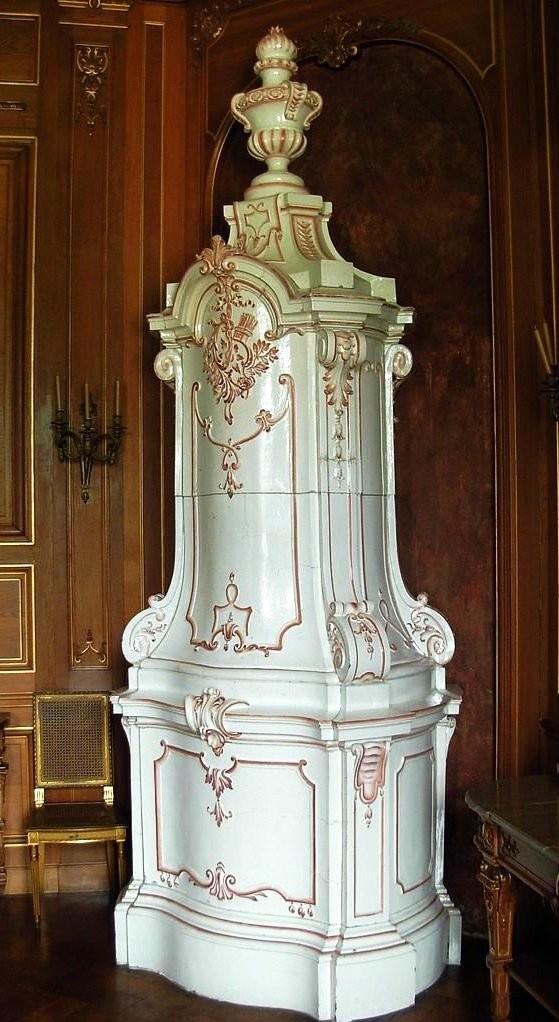 Ceramic stove in Lancut castle. Baroque
