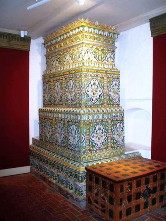 Tiled stoves from German Quarter's Mikhailovsky church in Moscow