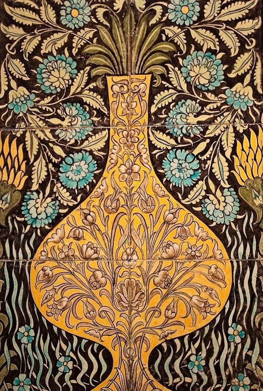 De Morgan's ceramic mural in Persian style