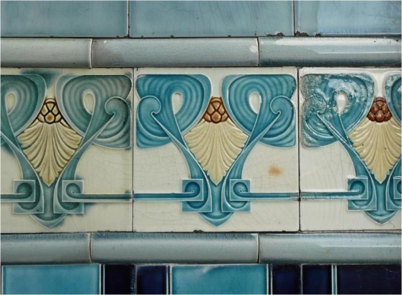 Ceramic mural in Dokkum, Holland