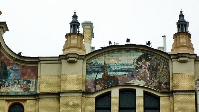 Ceramic tiled mural of Metropol Hotel Moscow