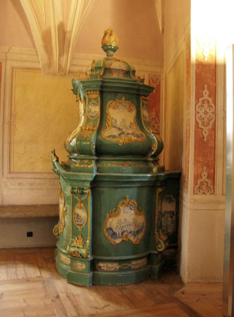 A ceramic Renaissance stove in Albrechtsburg castle. Meissen