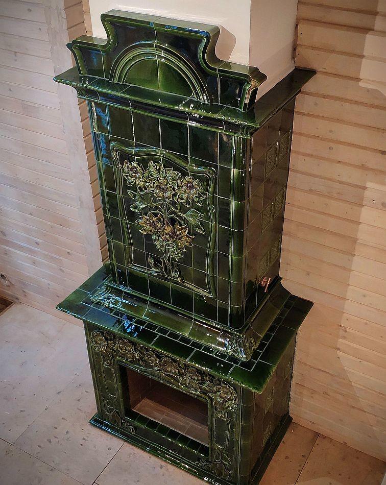Our rose hip themed Art Nouveau stove