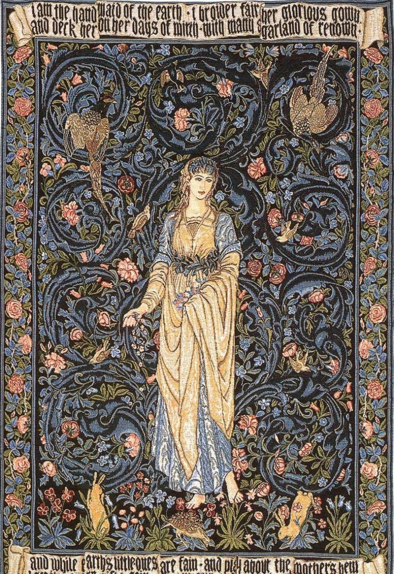 Morris's Flora tapestry. 1884 Arts and Crafts