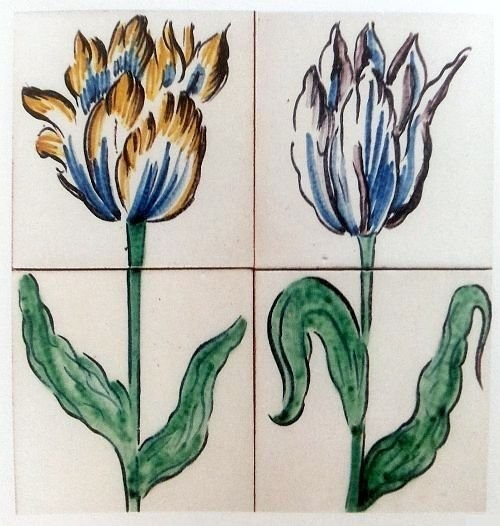Tiles with tulips. 1614