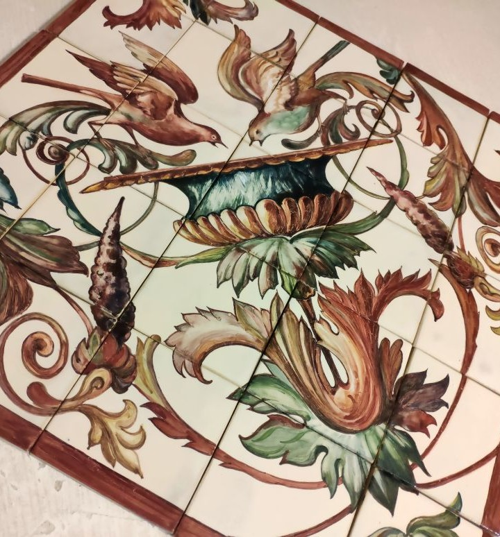 Ceramic mural in the Renaissance style