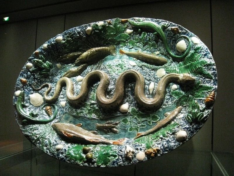 A dish with snakes. Bernard Palissy. 16th century