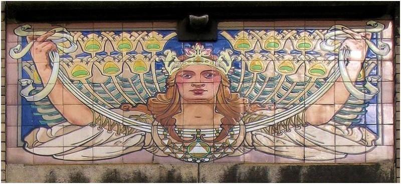 Ceramic murals in Brussels St Gillis Vorstsesteenweg