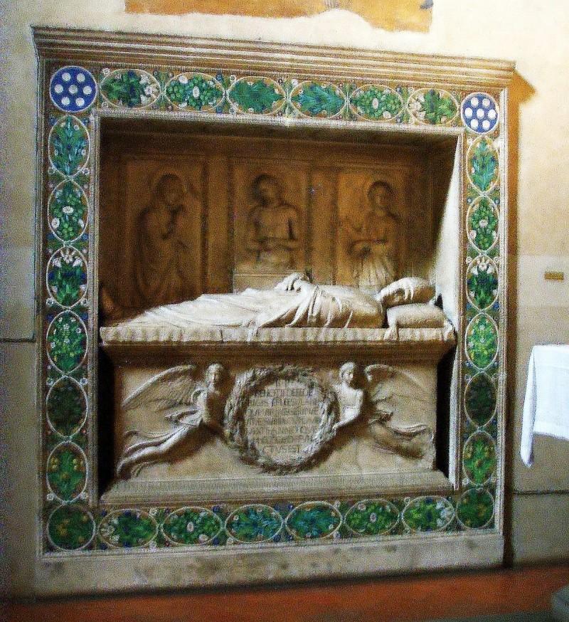 Benozzo Federici's tomb (1454-1457), Della Robbia's workshop