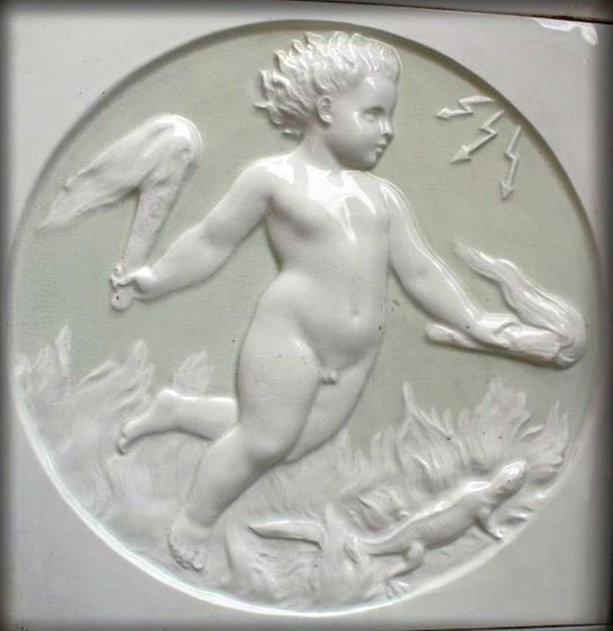 A bas-relief tile. 1875