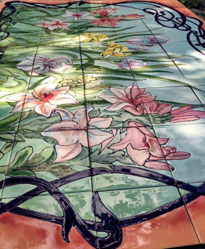 Art Nouveau Ceramic Mural for facades