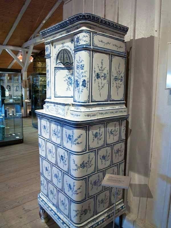 Antique tiled stoves in the Stove and Ceramics Museum in Velten