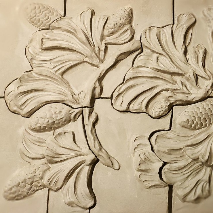 Handmade relief murals