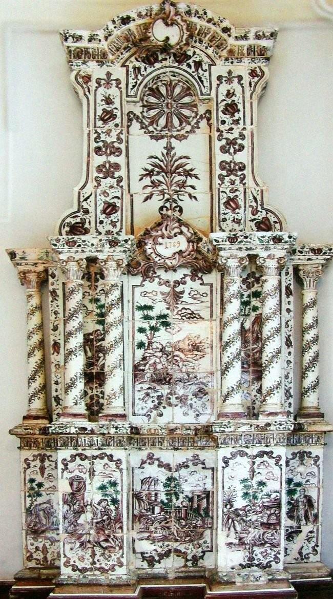 Ceramic stove by B.F. Rastrelli. 1796. Kaluga