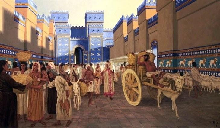Ceramics of Babylon, Ishtar Gate