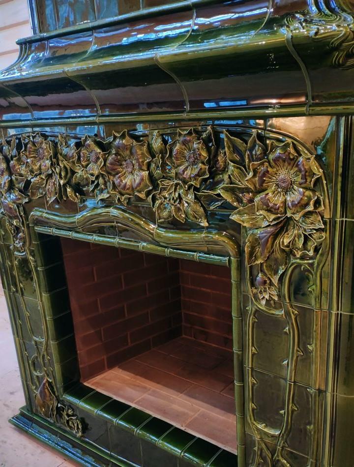 The Art Nouveau Tiled Fireplace