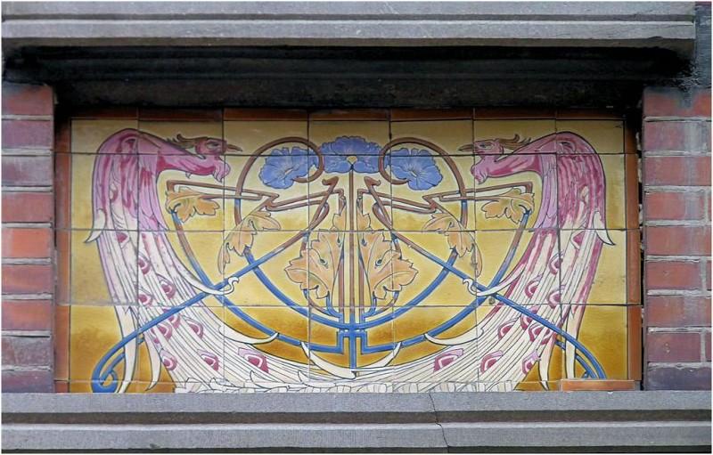 Ceramic mural in Sint-Truiden in Belgium