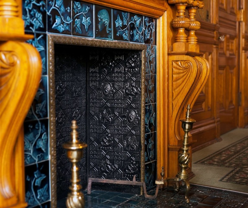 Early Victorian english fireplace