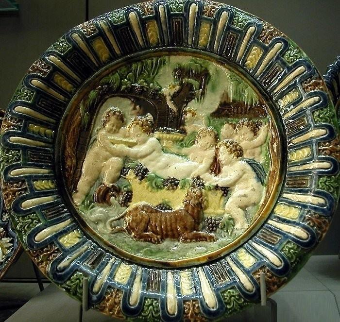 A dish. Palissy, 1575, Louvre. Bernard Palissy