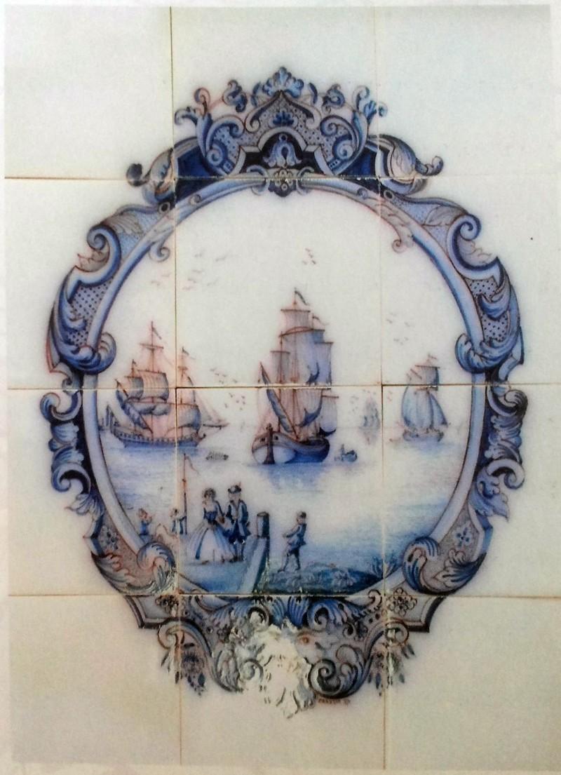 A Dutch maritime mural. 1637
