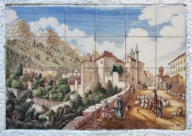 Ceramic mural of 19th century. Sintra, Portugal