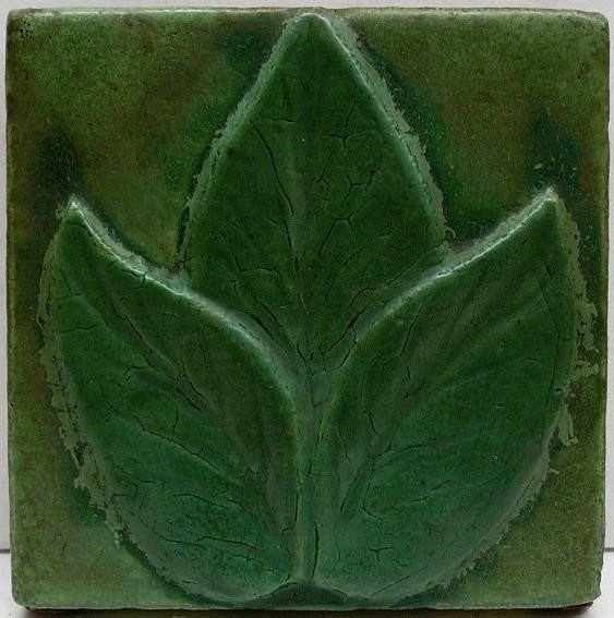 A tile by John Owens. ~1800 US art ceramic tiles of the early XX century