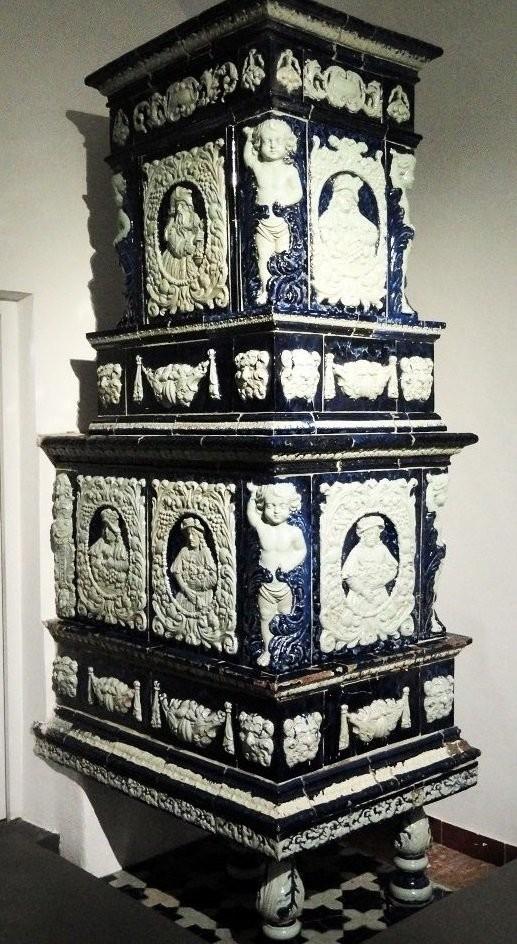 Antique ceramic stove in Tyrolean Folk Art Museum, Innsbruck