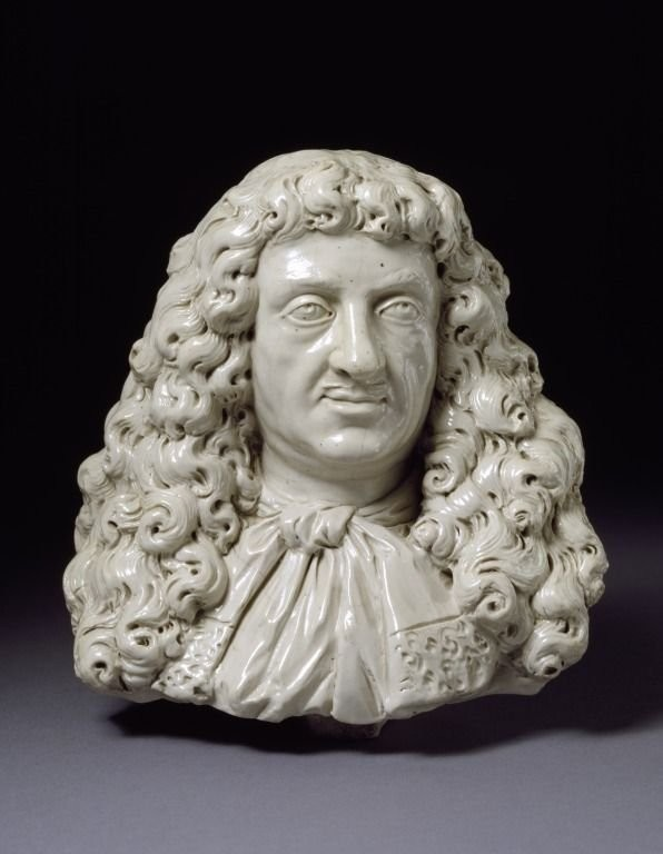 A bust made by John Dwight. 1673-1675