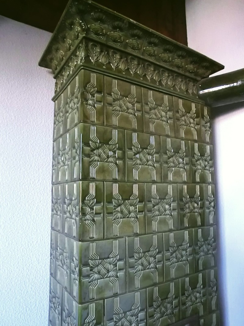 Carl Teichert's stove in Art Nouveau style. The end of 19th century