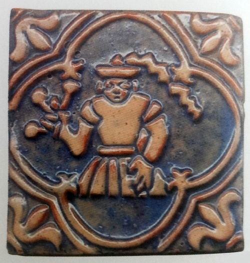 A tile by Moravian Pottery. Beginning of 20th century