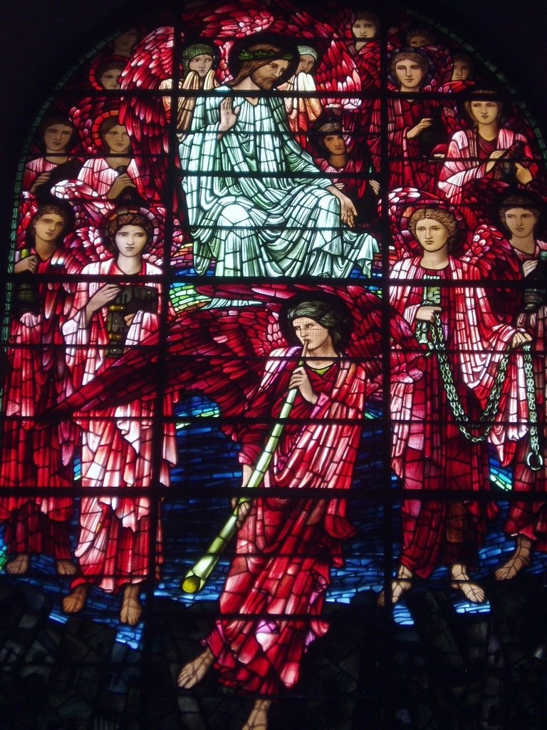 Morris and Co's stained-glass window in the Birmingham Cathedral Arts and Crafts