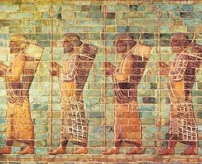 Palace ceramic friezes in Susa