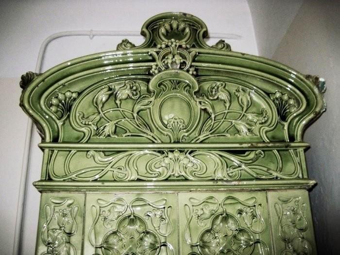 Art Nouveau ceramic stove in Lvov