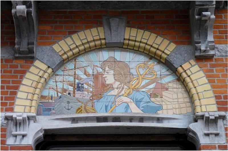Ceramic panel in Sint-Truiden in Belgium