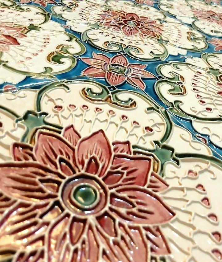 Lace relief tiles
