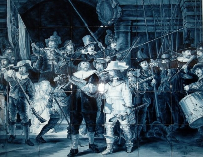The night watch. Delftware