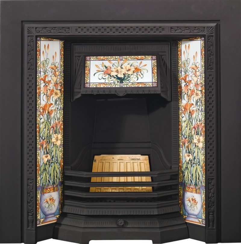 A modern replica of an early Victorian fireplace