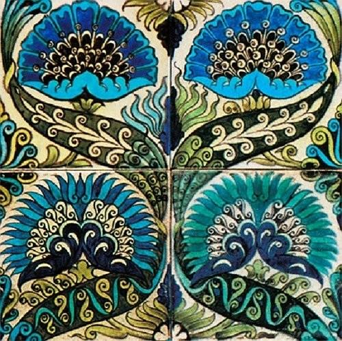 De Morgan's thistle mural Arts and Crafts