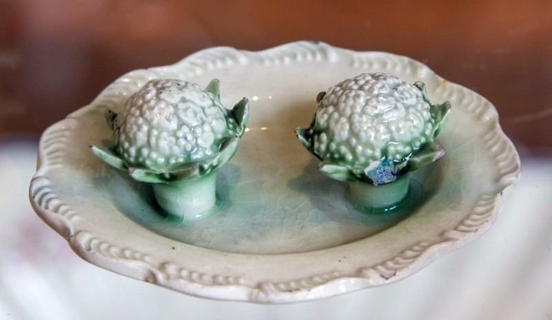 Wildon's craft with decorative ceramic fruits and vegetables