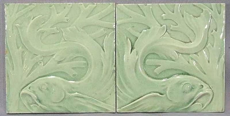 Ernst Teichert's Art Nouveau tiles. 1900