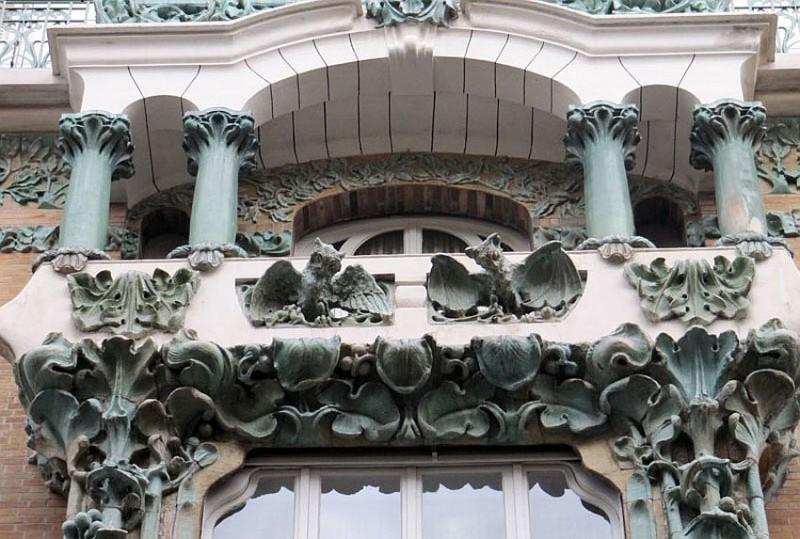 Bigot's ceramics on Édouard Autant's house on Rue de Abbeville, 14