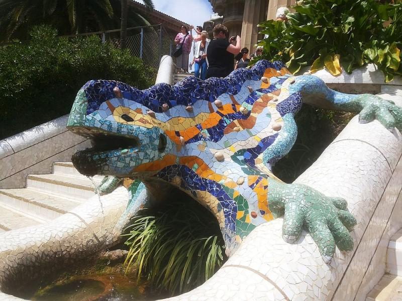 Antonio Gaudi - The legendary lizard, clad with trencadis ceramic tiling