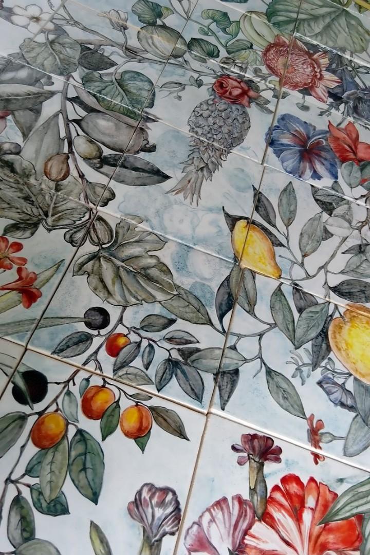 Handmade ceramic mural Botanica